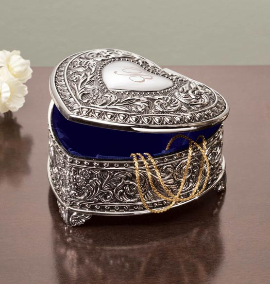 Personalized Antique Heart Keepsake Box - View 3