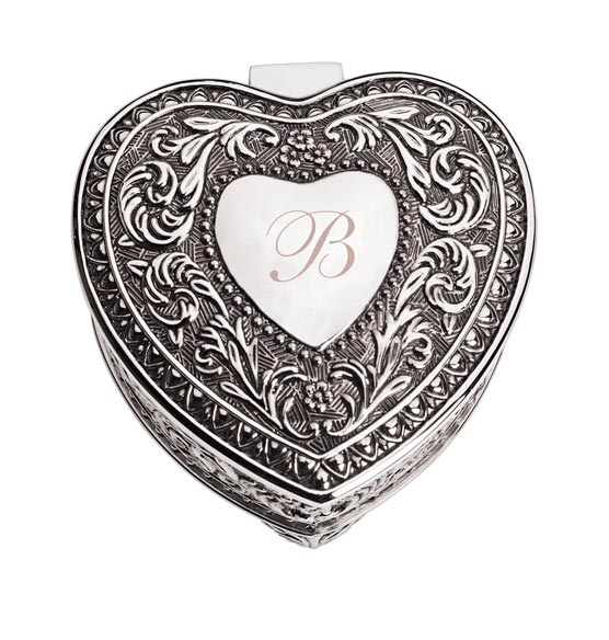 Personalized Antique Heart Keepsake Box - View 4