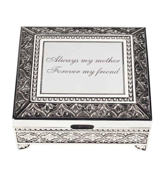 Personalized Antique Rectangular Keepsake Box - View 2
