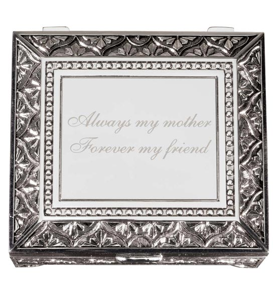 Personalized Antique Rectangular Keepsake Box - View 4