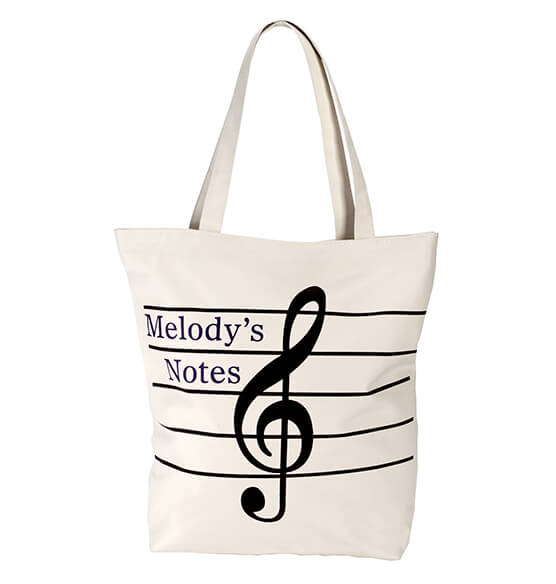 Personalized Musical Note Tote Bag - View 2