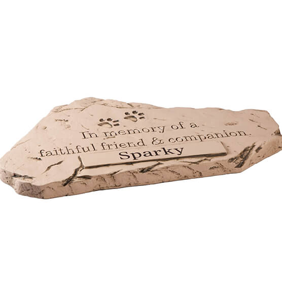 Personalized Faithful Friend and Companion Memorial Stone - View 2