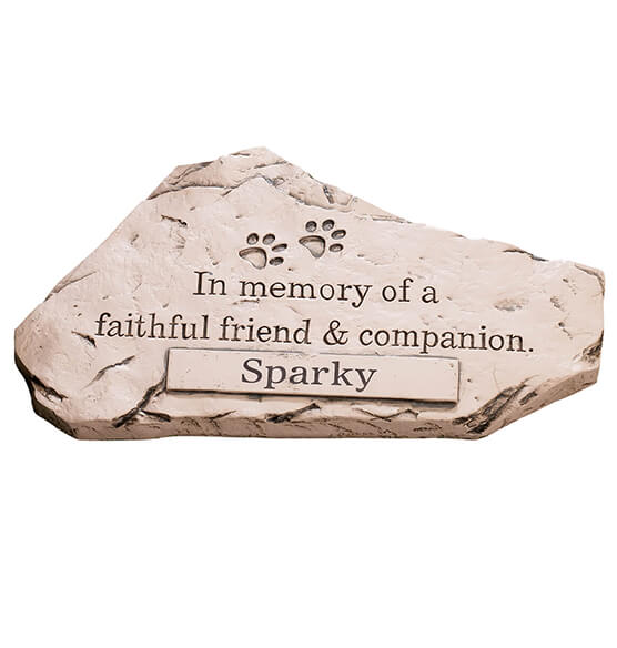 Personalized Faithful Friend and Companion Memorial Stone - View 3