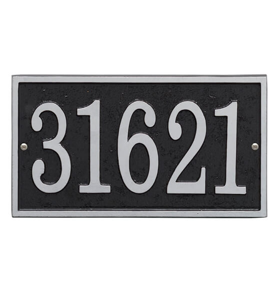 Fast & Easy Rectangle House Number Plaque - View 2