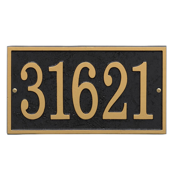 Fast & Easy Rectangle House Number Plaque - View 3