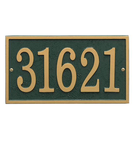 Fast & Easy Rectangle House Number Plaque - View 4
