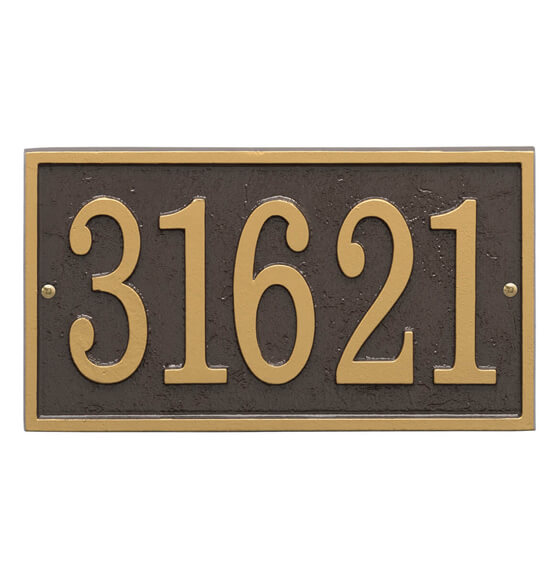 Fast & Easy Rectangle House Number Plaque - View 5