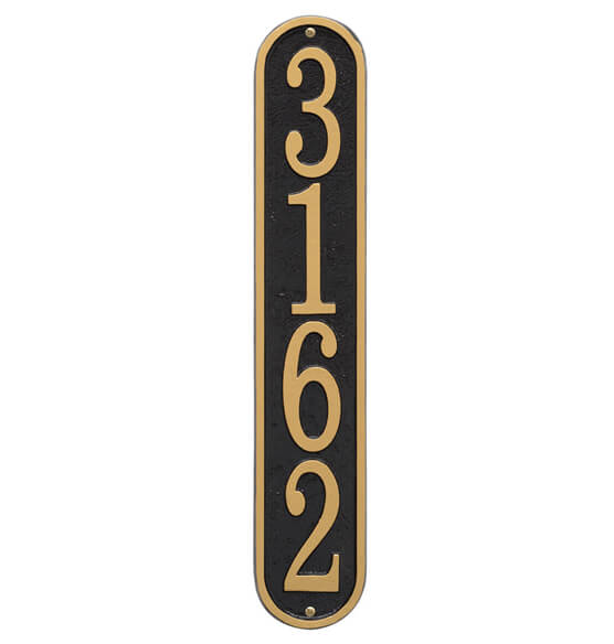 Fast & Easy Vertical House Number Plaque - View 2