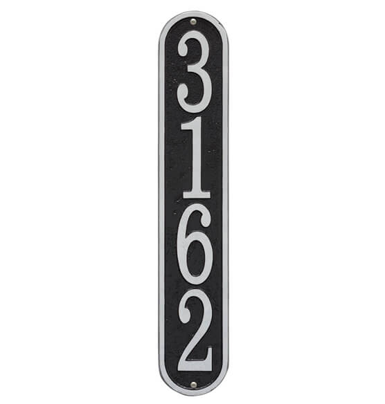 Fast & Easy Vertical House Number Plaque - View 3