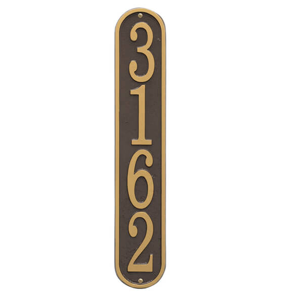 Fast & Easy Vertical House Number Plaque - View 4