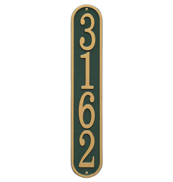 Fast & Easy Vertical House Number Plaque - View 5