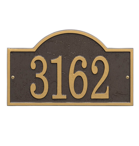 Fast & Easy Arch House Number Plaque - View 2
