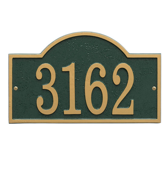 Fast & Easy Arch House Number Plaque - View 5