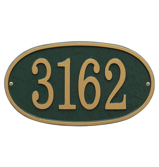 Fast & Easy Oval House Number Plaque - View 2