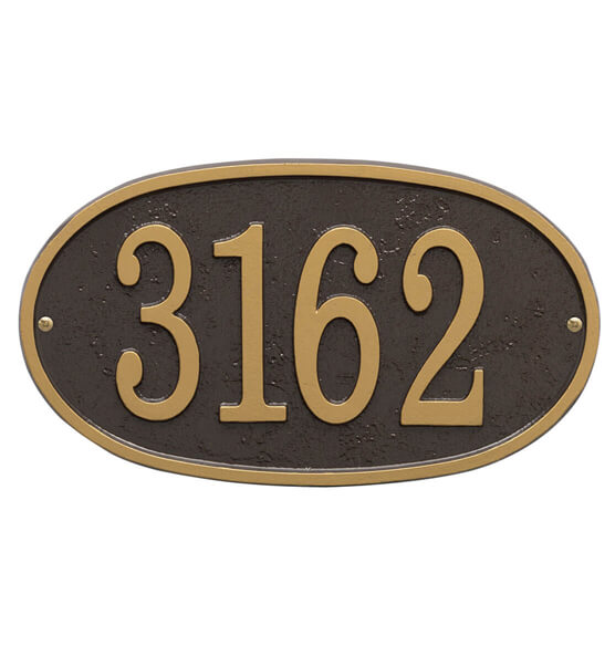 Fast & Easy Oval House Number Plaque - View 5
