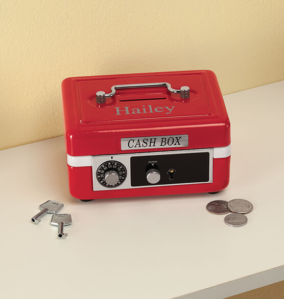 Personalized Children's Cash Box - View 3