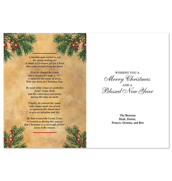 Personalized Legend of Candy Cane Scented Christmas Card - View 2