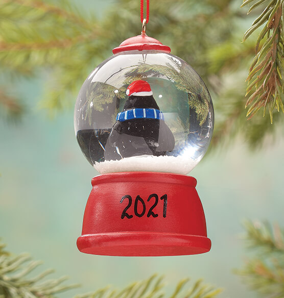 Personalized Penguin Waterglobe Ornament - View 2