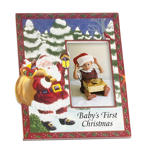 Personalized Santa's Surprise Christmas Frame Vertical - View 2