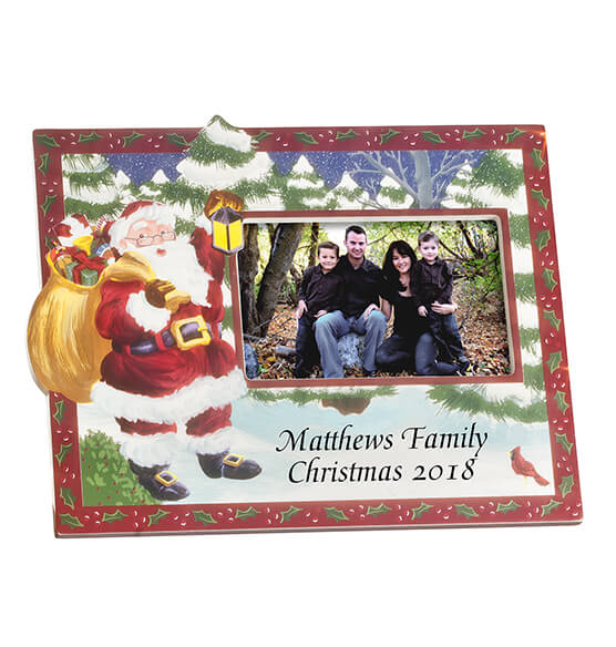 Santa's Surprise Horizontal Christmas Photo Frame - View 2