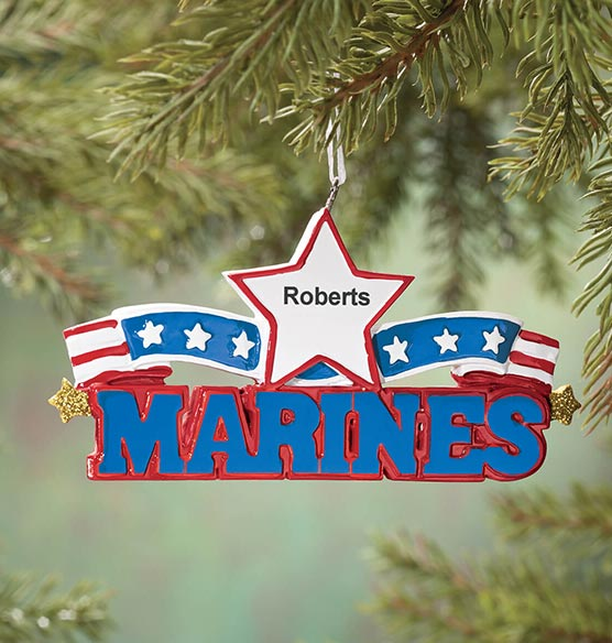 Personalized Resin Military Ornament - View 4