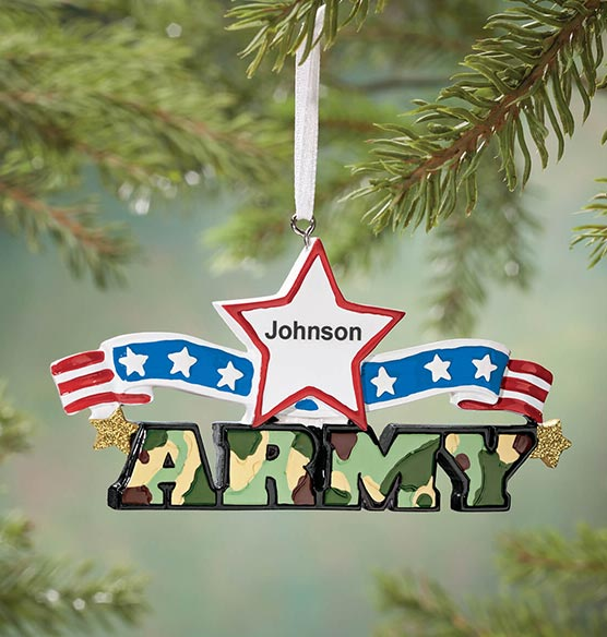 Personalized Resin Military Ornament - View 5
