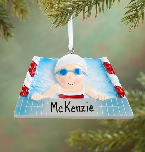 Personalized Swimmer Ornament - View 2