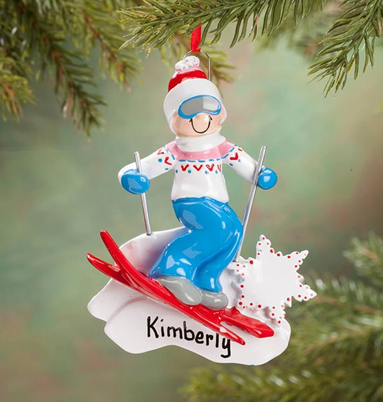 Personalized Skier Ornament - View 2