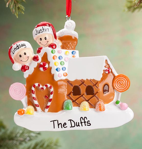 Personalized Gingerbread Family Ornament - View 2