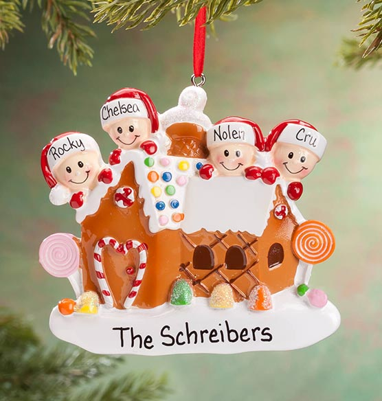 Personalized Gingerbread Family Ornament - View 4