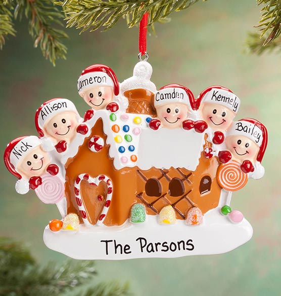 Personalized Gingerbread Family Ornament - View 5