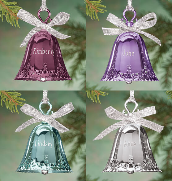 Personalized Birthstone Bell Ornament - View 2