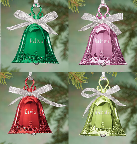Personalized Birthstone Bell Ornament - View 3