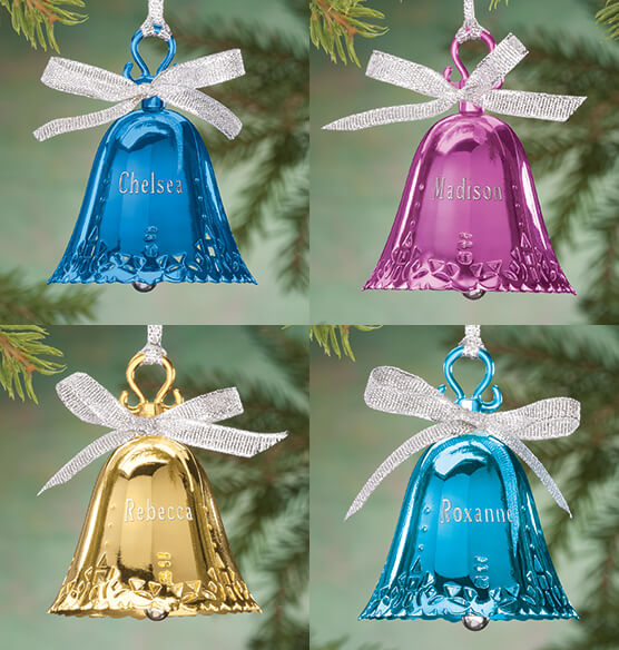 Personalized Birthstone Bell Ornament - View 4