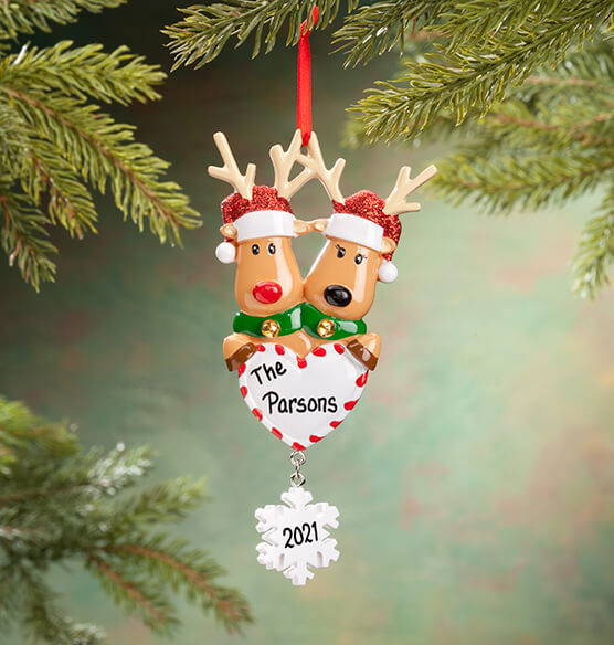 Personalized Reindeer Family Ornament - View 2
