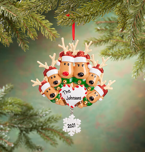 Personalized Reindeer Family Ornament - View 5