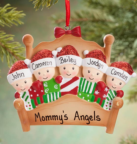 Personalized Family in Bed Ornament - View 5