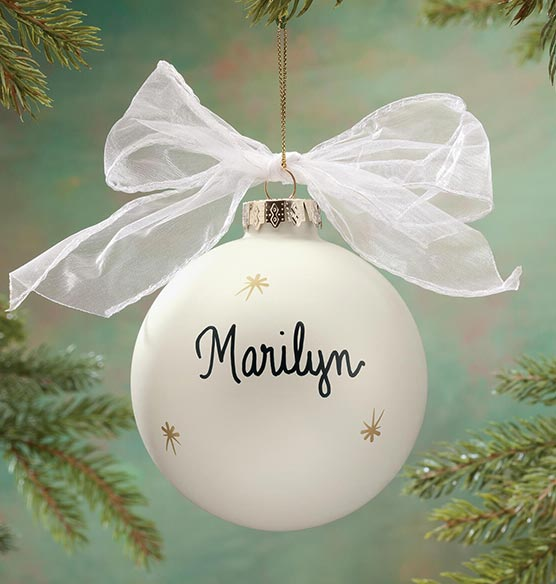 "Personalized ""In Loving Memory"" Glass Ball Ornament - View 2"