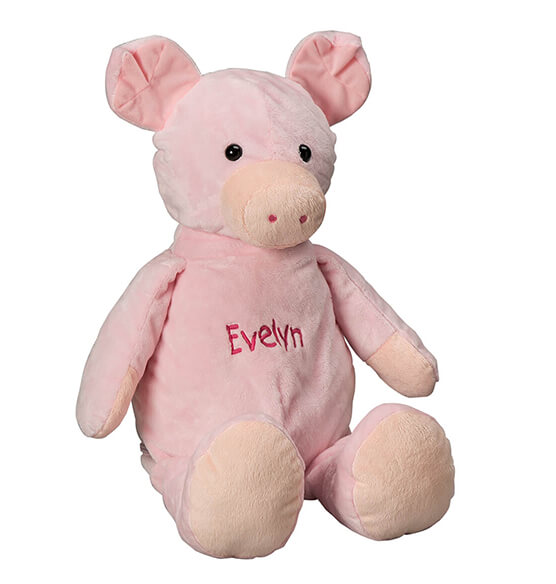 Personalized Stuffed Pig - View 2