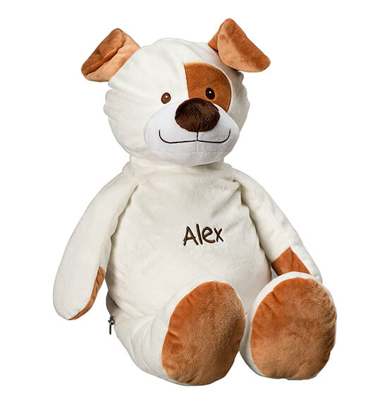 Personalized Stuffed Animal Puppy Treasure Keeper - View 2