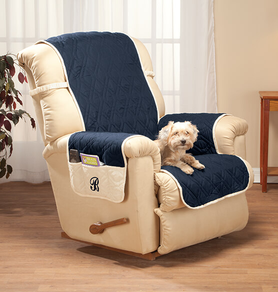 Personalized 5 Star Reversible Waterproof Recliner Cover - View 4