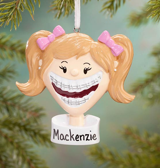 Personalized Braces Ornament - View 2