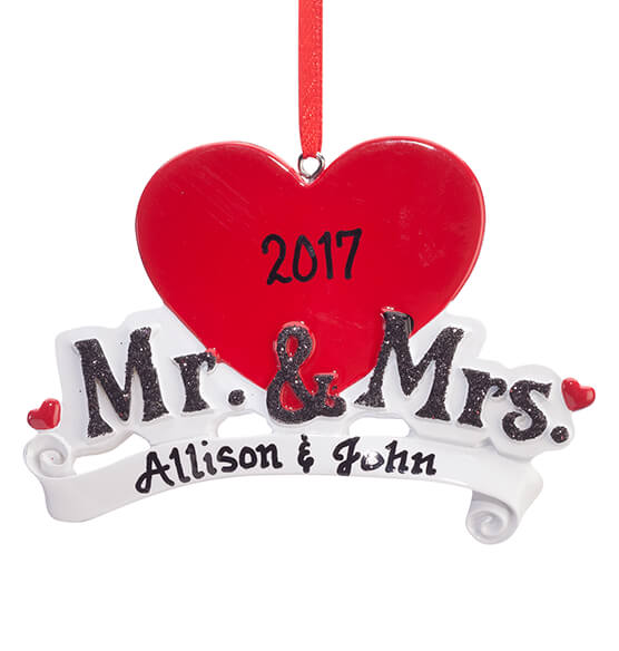 Personalized Mr. & Mrs. Ornament - View 2