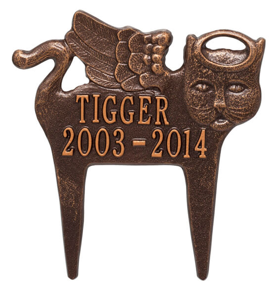 Personalized Angel Cat Pet Memorial Marker - View 4