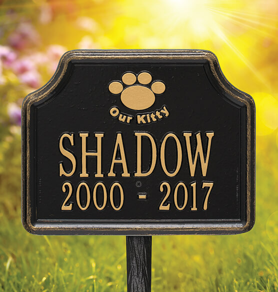Personalized Our Kitty Cat Paw Memorial Marker - View 2