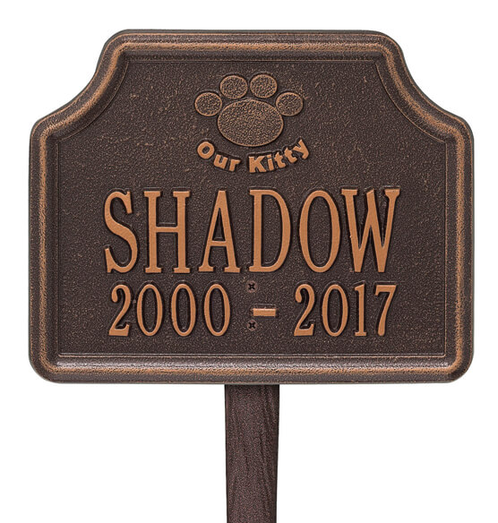 Personalized Our Kitty Cat Paw Memorial Marker - View 4