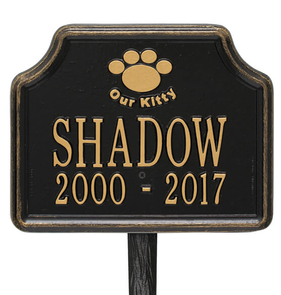 Personalized Our Kitty Cat Paw Memorial Marker - View 5