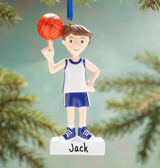 Personalized Basketball Player Ornament - View 2
