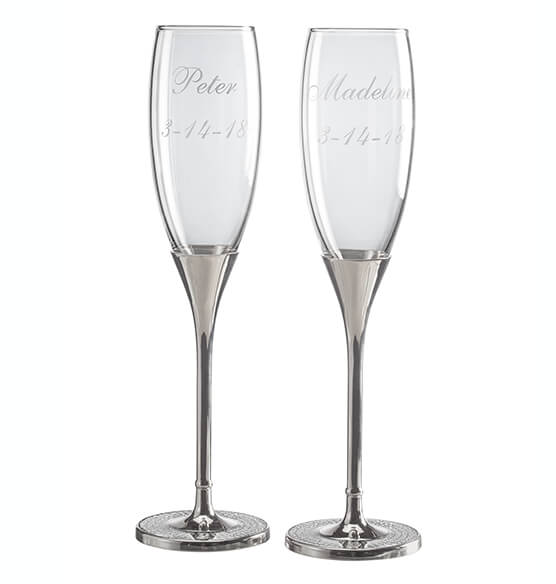 Personalized Brilliance Toasting Flute Set - View 3