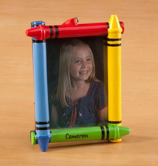 Personalized Crayon Frame Ornament - View 2